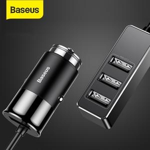 Image 1 - Baseus 4 USB Auto Ladegerät 5V 5A Schnelle Lade für iPhone iPad Samsung Xiaomi Tablet GPS Adapter Ladegerät Auto telefon Ladegerät