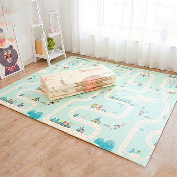 Portable Playmat for Babies Large Thick XPE Crawling Game Pad Children Play Mat Toys Room Decortaion Folding Kids Carpet Rug
