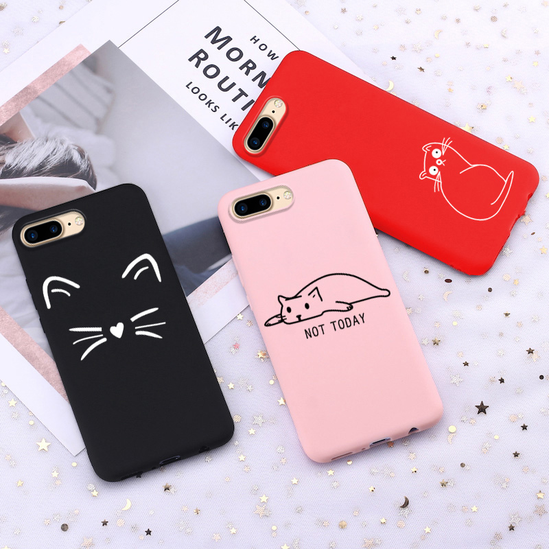 Lovely Cats Silicone <font><b>Cases</b></font> For <font><b>OPPO</b></font> A3s <font><b>A33</b></font> A37 A39 A59 A5 A7 A71 A79 A83 F11 Pro F11 F3 F7 F9 K1 R11 Soft TPU Thin Back Covers image