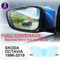 KULEOU Volle Abdeckung Anti Nebel Film Rückspiegel für Skoda Octavia 1 2 3 A5 A7 MK1 MK2 MK3 1U 1Z 5E Regendicht Filme