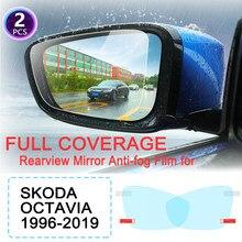 KULEOU-espejo retrovisor con película antiniebla para Skoda Octavia 1, 2, 3, A5, A7, MK1, MK2, MK3, 1U, 1Z, 5E, películas a prueba de lluvia