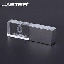 Jaster Renault Kristal + Metalen Usb Flash Drive Pendrive 4Gb 8Gb 16Gb 32Gb 64Gb 128gb Externe Opslag Memory Stick U Disk