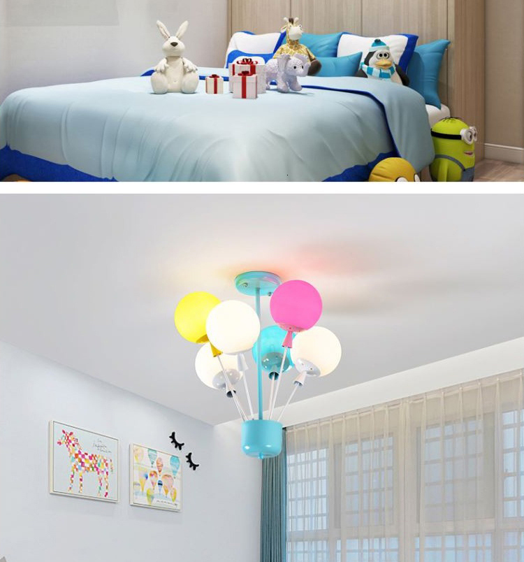 Hf96c0454ad544121b1276457aa92f70aW Ceiling light Childrens room living room restaurant dining room decorative lights for home kids simple Modern led ceiling lamp