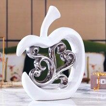 Nordic home ceramika strona główna nowa prosty salon fryzjerski do wina srebrnego puste jabłko lub