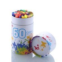 60 couleurs Art marqueurs stylos Fineliner couleur stylos dessin peinture aquarelle marqueur double pointe pinceau stylo école papeterie fournitures