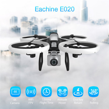 Eachine E020 LED WIFI FPV With 4K/1080P HD Wide Angle Camera 4CH Altitude Hold Mode RC Drone Quadcopter RTF 1