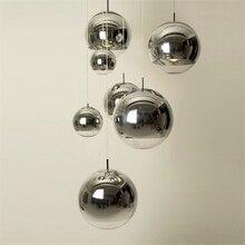 現代ガラス LED ペンダントランプバー階段 (1 〜 3 ライト) レストラン LED ペンダントライトリビングルームランプメッキ球状