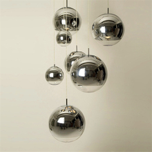 Modern Glass LED Pendant Lamp Bar Stairs (one To Three Lights) Restaurant Lights Living Room Plating Spherical