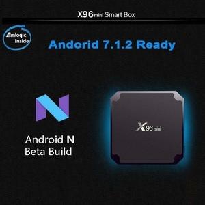 Image 3 - X96 mini Android TV BOX 2G/16G Amlogic S905W 1G/8G QuadCore 2.4G wiFi X96mini Smart set top box Android 7.1 4K Media Player