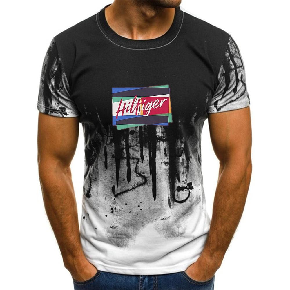 Men's T-shirt Short Sleeve 3D Printing Lightning T-shirt Unique Raindrop T-shirt Song O's Summer Men