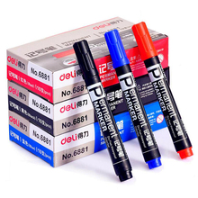 1 PC Permanent waterproof marker pen oil for whiteboard highlighter stationery school supplies Office 1.5mm