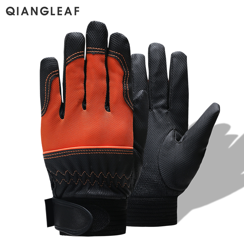 QIANGLEAF Brand Work Winter Gloves Mechanic Working Gloves Cycling Safety Gloves Bicycle Protective Gloves Free Shipping 2700