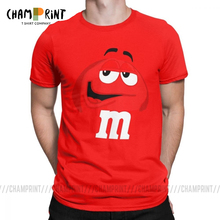 M&M's Chocolate Candy Character Face Tees Short New Fashion T Shirt
