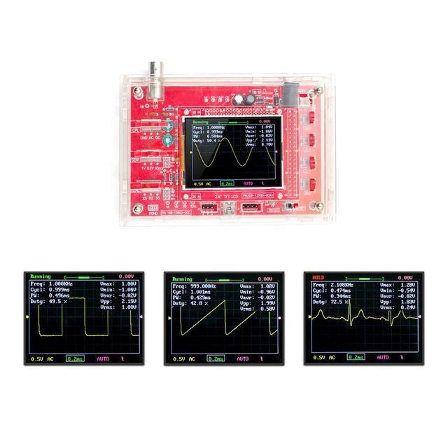 """Full Montiert DSO138 2,4 """"TFT Tasche größe Digitale Oszilloskop Kit DIY Teile Handheld + alte version Abdeckung Shell"""