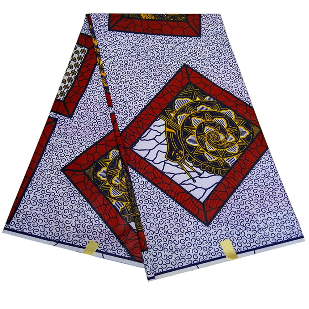 Fashion Ankara Goths Printed Wax Fabric 6yards 100% Cotton Real Dutch Textiles Sewing Cloth For Lady Party Dress