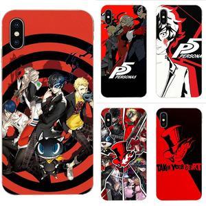 Anime Persona 5 dla Xiaomi Redmi Mi 4 7A 9T K20 CC9 CC9e uwaga 7 8 9 Y3 SE Pro Prime Go Play miękka TPU Protector etui na telefony