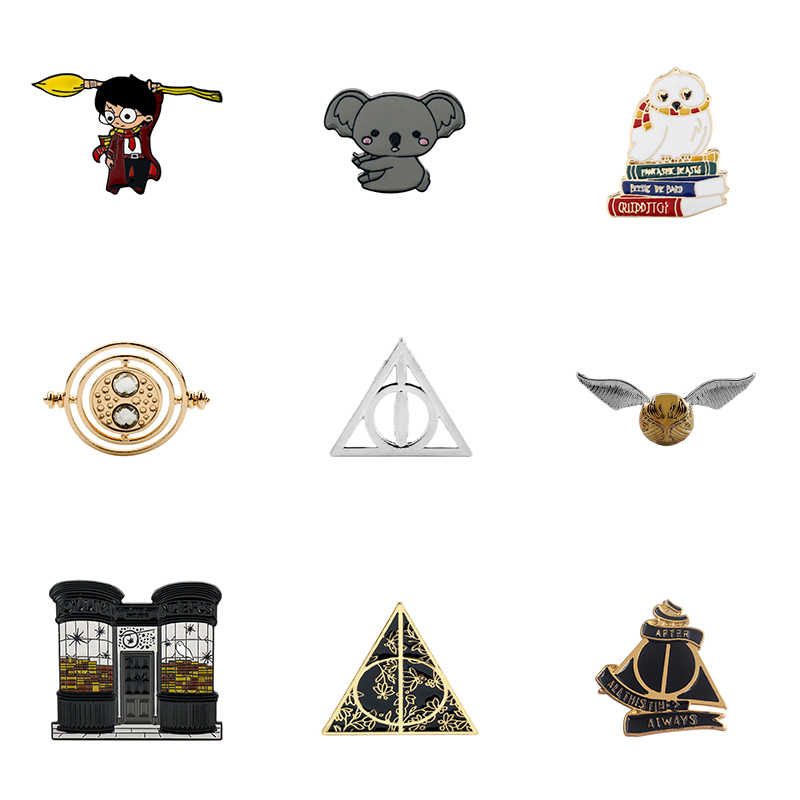 Hp Magic School Emaille Pins Magic Broche Pin Op Kleding Metalen Badges Broches Voor Vrouwen Mannen