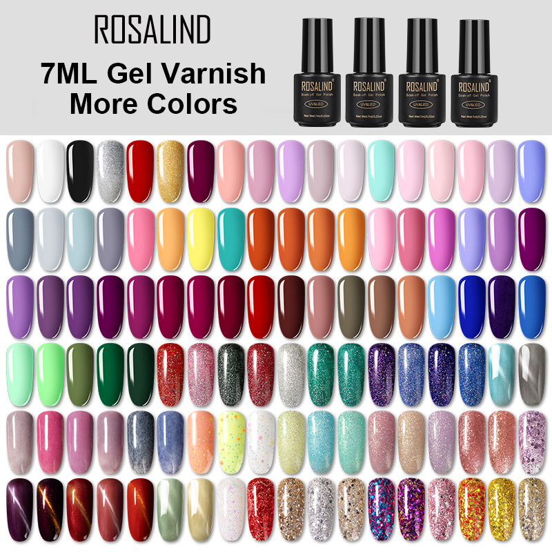 ROSALIND 7ML Nail Polish Gel Varnish Hybrid UV For Manicure Off Gellak White Prime Nail Art Gel Extension Nail Polish