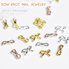 100pcs metal bow-kno...