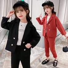 Приталенный официальный костюм для девочек комплекты малышей