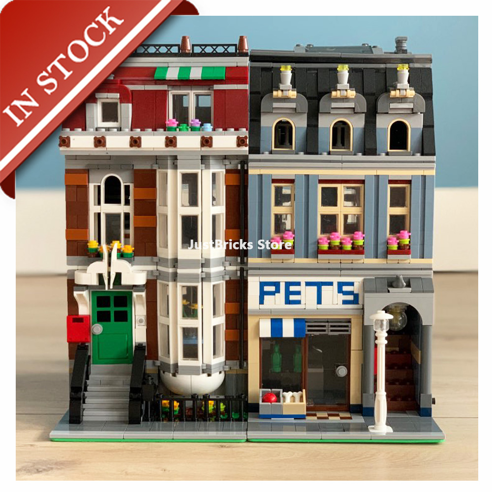 Street View Pet Shop 10218 15009 In Stock Building Blocks 2000+Pcs Creator Expert Construction Out Of Print 84009 30015