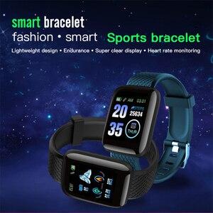 Image 2 - Gejian d13 homens relógio inteligente pressão arterial à prova dwaterproof água smartwatch feminino monitor de freqüência cardíaca fitness relógio esporte para android ios