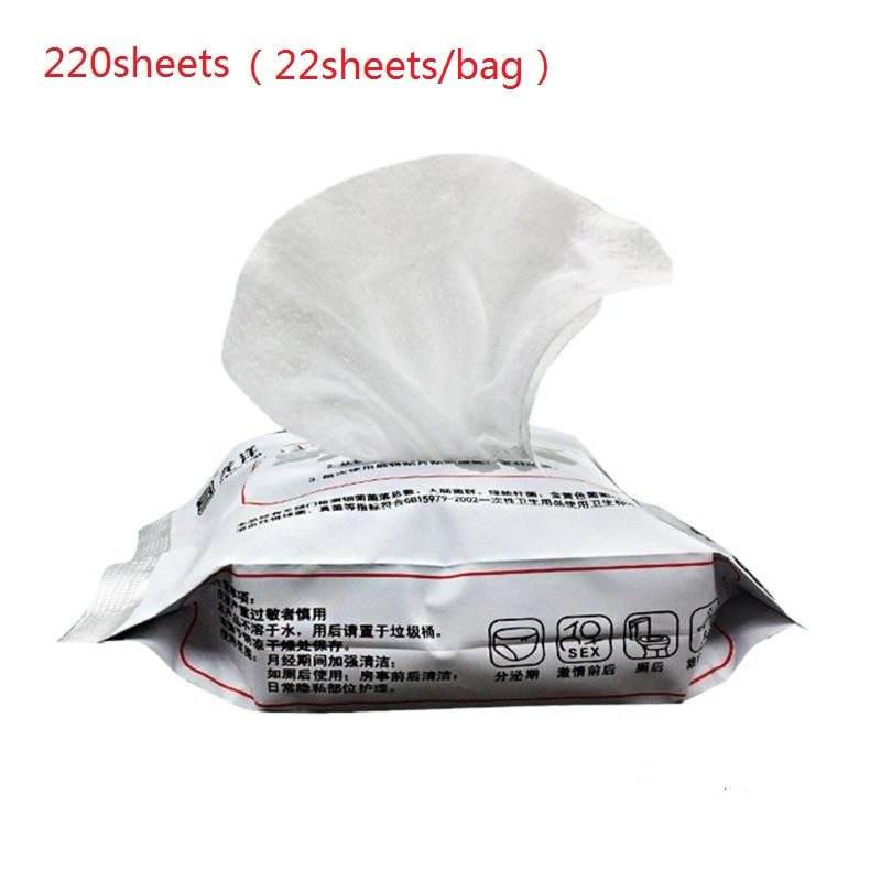 220 Sheets Women Privates Care Disposable Wet Wipes Natural Herbal Health Refreshing Cleaning Moisturizing Personal Disinfection