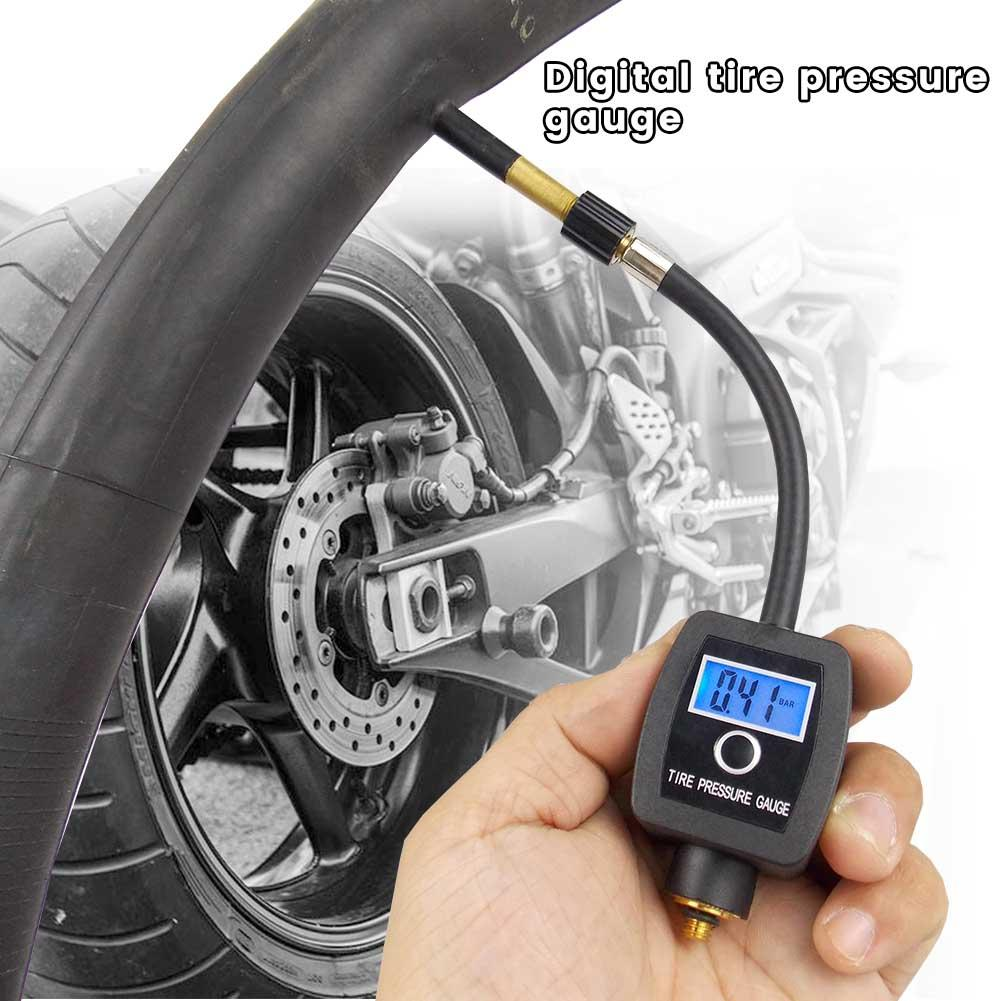 Car Motorcycle High Precision Digital Tire Portable Pressure Gauge Bicycle Tire Pressure Gauge Large-screen Digital Display