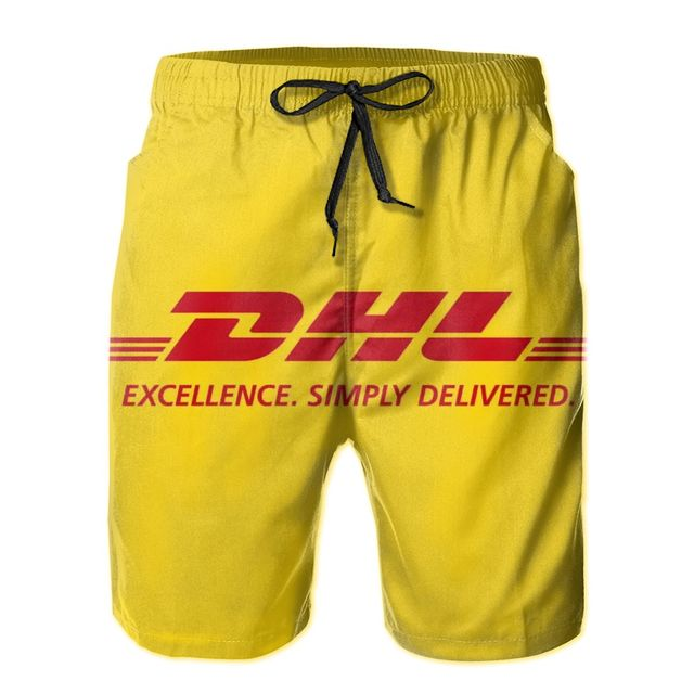 D.HL Men's Quick Dry Swim Trunks Colorful Stripe Beach Shorts with Mesh Lining 1