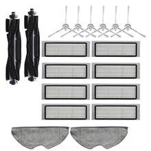 18 Uds lavable cepillo principal cepillos laterales filtro Hepa Filtro de paño de mopa para 360 S5 S7 Robot piezas de aspiradora robótica