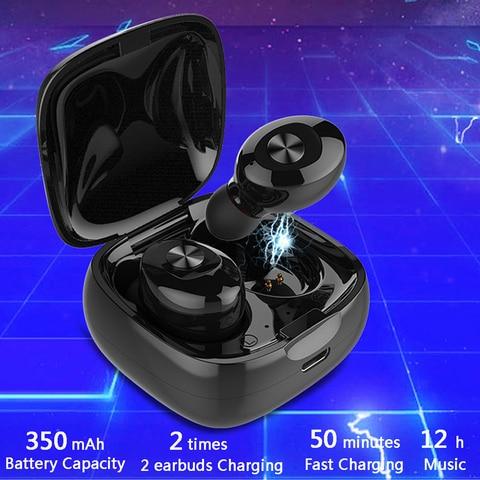 Fone de Ouvido Estéreo sem Fio Headset com Microfone para o Telefone Bluetooth Earbus Alta Fidelidade Som Esporte Fones Handsfree Gaming 10 Pçs Tws 5.0