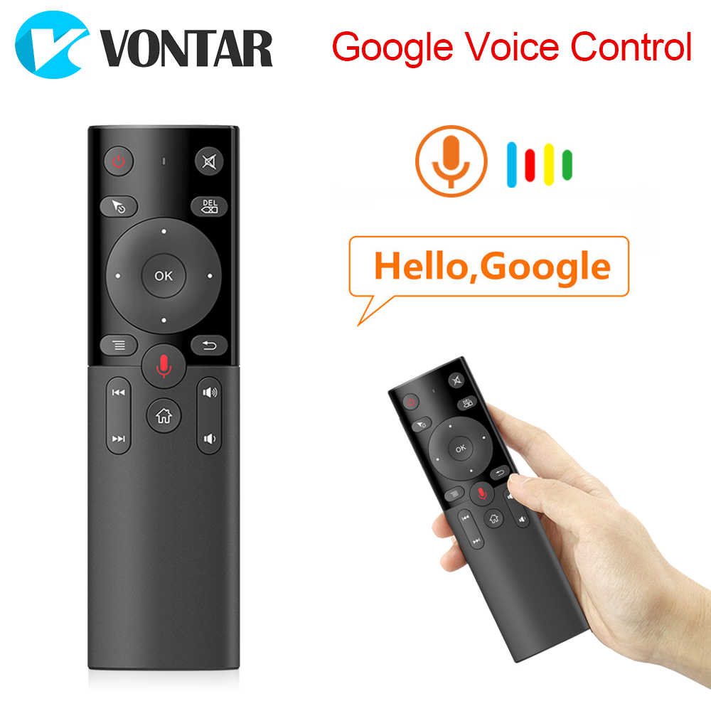 Suara Remote Control 2.4GHz Wireless Mini Keyboard Udara Mouse IR Belajar Mikrofon Gyro H17 untuk Android TV Box HK1 max X88 Pro
