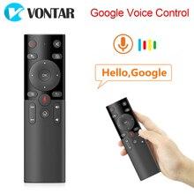 Voce di Controllo Remoto 2.4GHz mini tastiera Wireless Air Mouse IR Learning Microfono Giroscopio H17 per Android TV Box HK1 max X88 pro