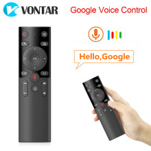 Suara Remote Control 2.4 GHZ Wireless Mini Keyboard Udara Mouse IR Belajar Mikrofon Gyro H17 untuk Android TV Box HK1 max X88 Pro(China)