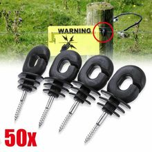 цена на 50pcs  Plastic Fence Screw Insulator Replacement Accessories Black+Silver Agricultural Electric Fence Accessories