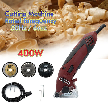 400W Chainsaw Circular Saw Tool 3400rpm Electric Outdoor Home Woodworking Mini DIY Circular Saw Effective Metal Cutting Tools woodworking power tools metal tiles mini cutting machine guide electric circular saw household small chainsaw set ps7818ms