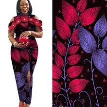 2019 אופנה בטיק אפריקה אנקרה מודפס שעוות בד 100% כותנה אמיתי 2020 שעוות אפריקה תפירת חומר עבור המפלגה שמלת 6 מטרים