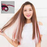 Syntetyczny klip w jednym kawałku 37 kolory 50 cm opaski do włosów dla kobiet syntetyczne długie proste włosy syntetyczne