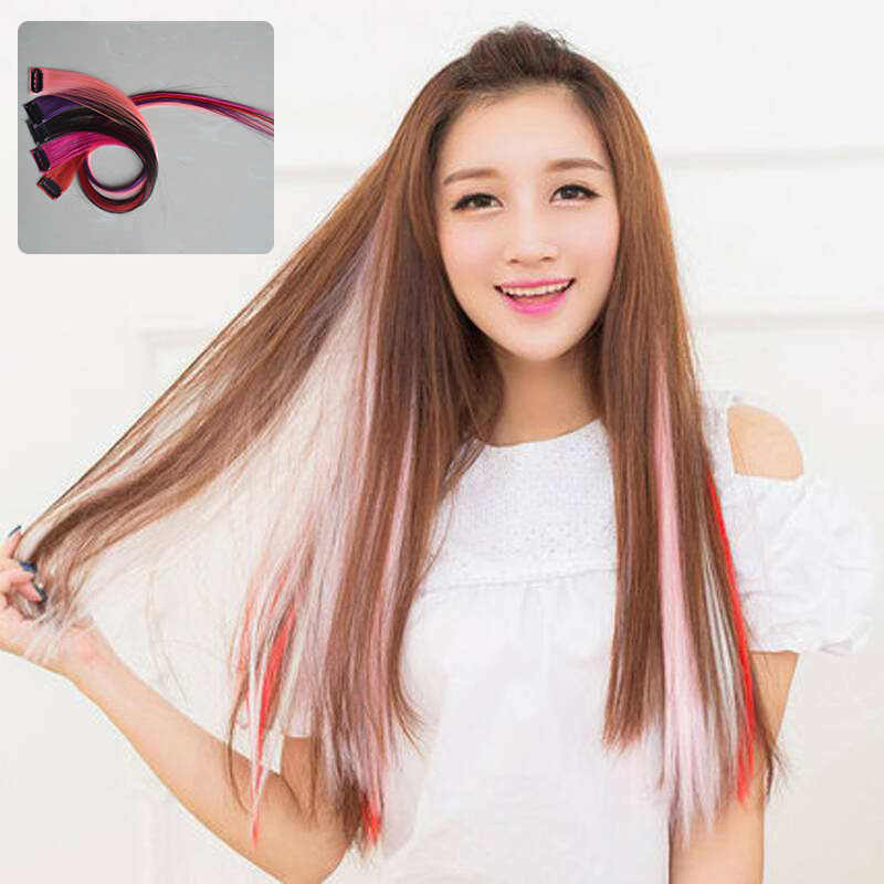 Synthetic Clip-in One Piece 37 Colors 50 cm hair bands for women Synthetic Long Straight Synthetic Hair