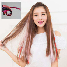 Synthetic Clip-in One Piece 37 Colors 50 cm hair bands for women Long Straight Hair