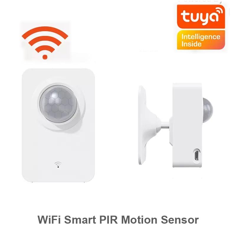 Датчик движения Tuya с Wi-Fi, умный инфракрасный детектор, управление через приложение, питание от USB, система сигнализации для умного дома