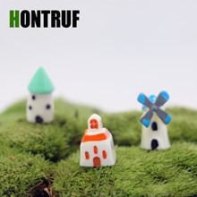 Diy Moss Micro Landscape Garden Decoration Mini House Castle Resin Crafts Ornaments Aquarium Landscaping Fish Tank Ornament(China)