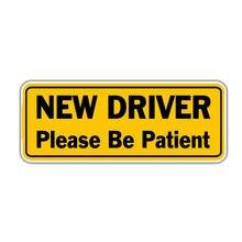 Новый драйвер пожалуйста будьте терпеливы знак наклейка на машину