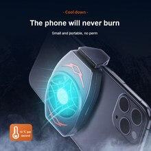 Para jogos/uso telefone celular cooler portátil telefone celular radiador ventilador de refrigeração dissipar calor refrigeração temperatura do telefone
