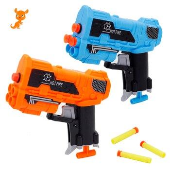 2019 New Arrival Manual Soft Bullet Gun Suit for Nerf Bullets Toy Pistol Gun long Range Dart Blaster Mini Toy Gun Kids Gift worker 22 bullets model curve soft bullet clip ammo cartridge dart clip for nerf