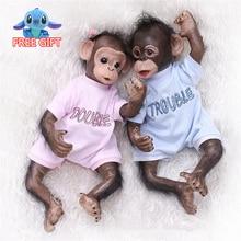 40cm silicone reborn dolls twins monkey orangutans dolls for kids chrismas present Birthday