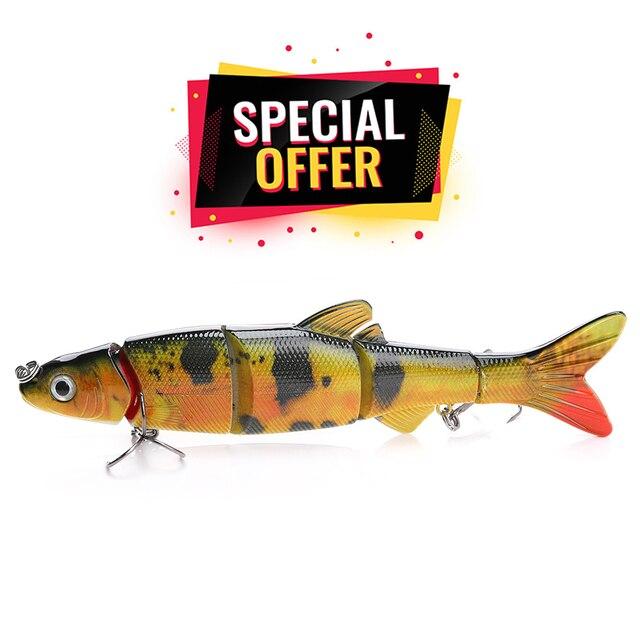 16cm 38g Lifelike 5-Segments Sinking Wobblers Fishing Lure