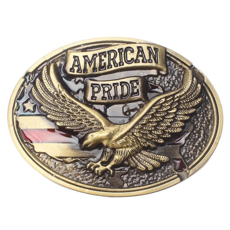Eagle Metal Cool Belt Buckles For Man Unisex Western Fashion Buckle Cowboys Cowgirls Paracord Buckle Luxury Hebill