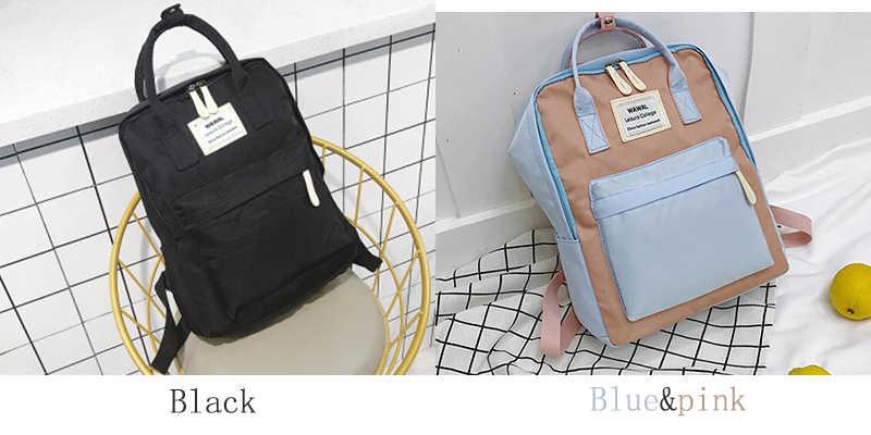 Kampüs kadın sırt çantası okul çantası kızlar için omuzdan askili çanta tuval kadın sırt çantası dizüstü sırt çantaları naylon sırt çantası Bolsas Mochila