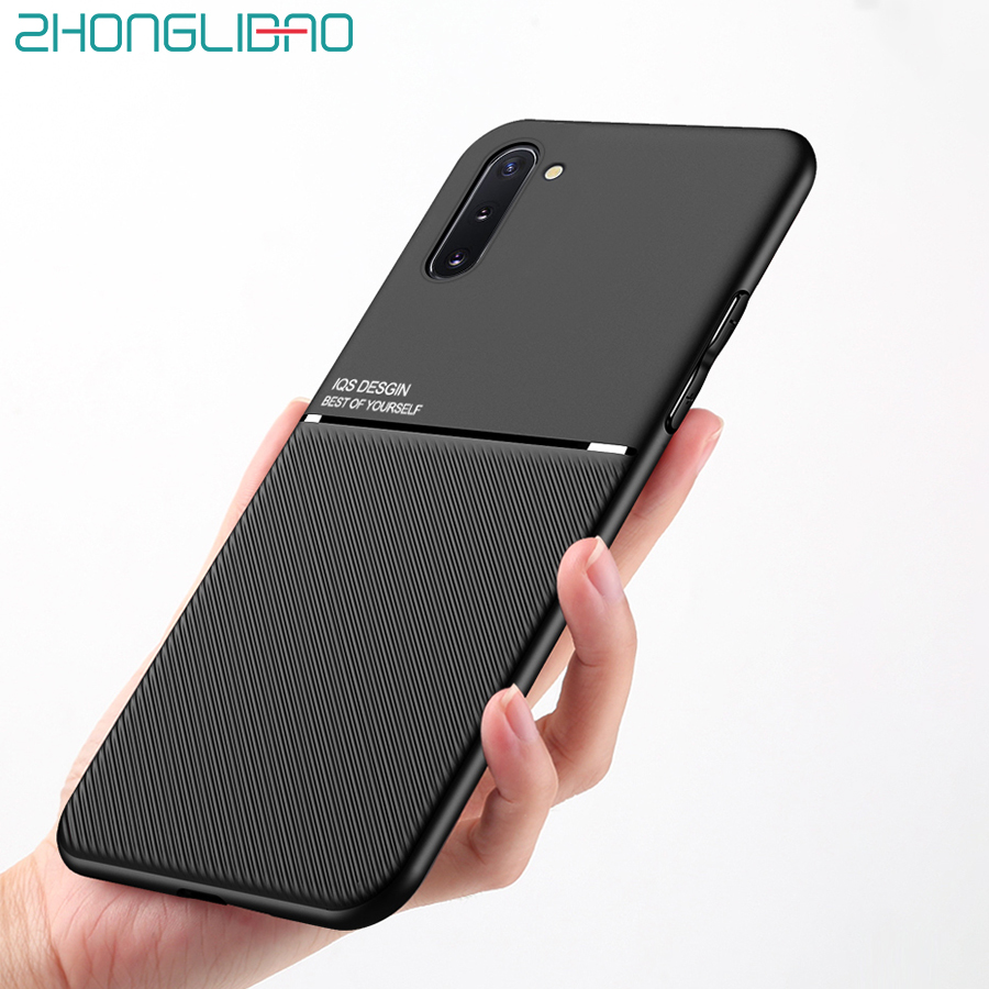 Thin Soft Case For Samsung Galaxy S10 S9 S8 Note 10 9 8 S20 Ultra Plus A01 A21 A51 A71 S10e Car Magnet Plate Phone Back Cover